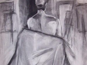 Back [Charcoal Drawing]