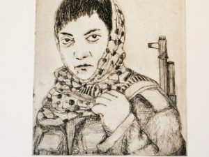Leila Khaled [Etching]
