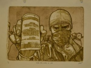 Tear Gas: Made in USA [Printmaking]