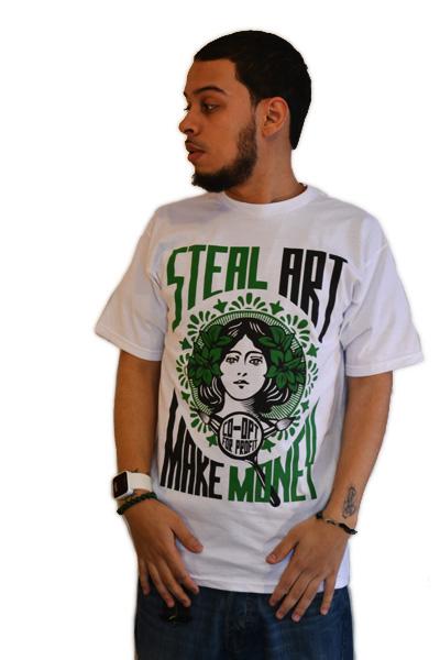 StealArtMakeMoneyGreen-Mens