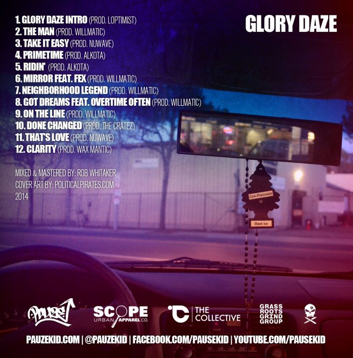 Pauze - Glory Daze - Back