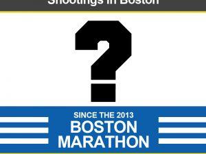 Shootings Since the 2013 Boston Marathon
