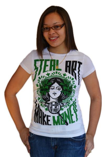 StealArtMakeMoneyGreen-Womens